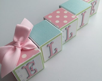 Baby Name Blocks Baby Gift Baby Shower Newborn Photography Nursery Babies Girl Boy Wooden Blocks