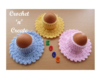 Egg Cup with Saucer Crochet Pattern (DOWNLOAD) CNC24