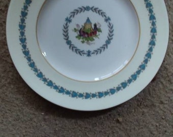 Wedgwood set of 12 plates in the Apple dore pattern 6 inches & Set of 12 plates   Etsy