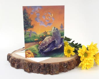 Greeting Card:  The Tortoise and the Hare