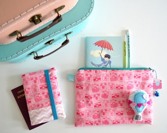 Travel Kit, Fabric case, passport holder, document custody, pouch bag, handbag, traveller's Notebook