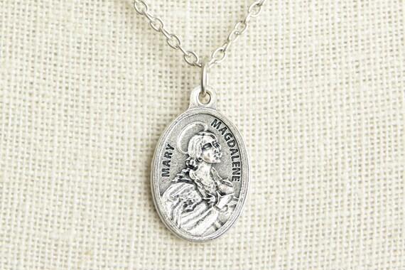 Saint mary magdalene medal necklace st mary magdalene mozeypictures Choice Image