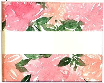 Your NAME in Hand-PAINTED Watercolor FLORALS sign