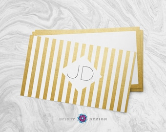 Diamond in the Gold business card design + Printing (optional) + FREE SHIPPING