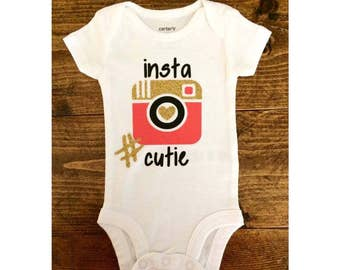 Insta Cutie Bodysuit, Photography Bodysuit, Baby Girl Bodysuit, Baby Boy Bodysuit