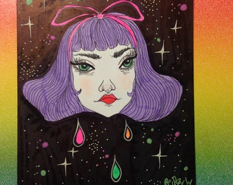 Lavender bb; original illustration