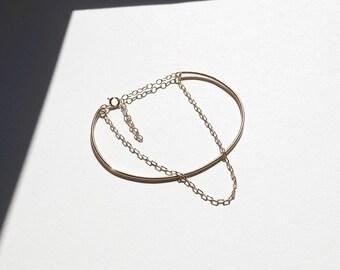 Gold Double Layer Bracelets, Gold Bracelets, Layered Bracelets, Gold Bangles