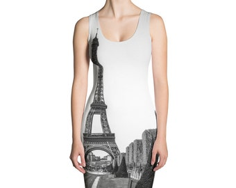 Eiffel Tower Photo Print Dress