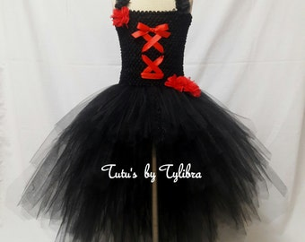 Wedding Tutu Dress, Wedding Dress Costume, Sugar Skull Dress, Gothic Wedding Dress, Day of the Dead Dress, Bride Costume, Flower Girl Dress