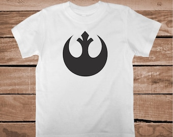 Rebel Alliance T-Shirt Star Wars Custom Tee Rebel Alliance Logo On Shirt Star Wars Gifts Star Wars Unique Shirts for Kids and Adults, bb03