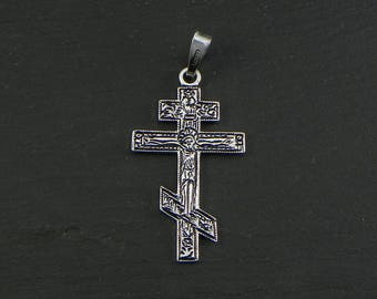 ORTHODOX CROSS Pendant - Sterling silver