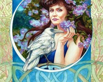 Branwen by artist Jane Starr Weils