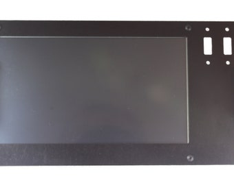Mini Pi Rack 7 inch LCD display Faceplate - For misc. LCD displays with no bezel