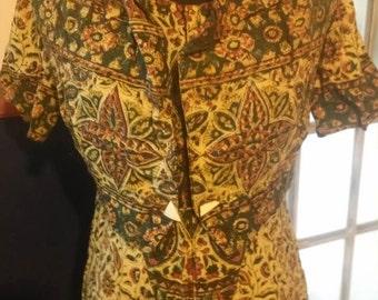 Vintage Bohemian Dress with Matching Jacket!