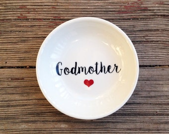 Jewelry Dish | Godmother | Mother's Day | Ring Dish | Godmother of the Bride