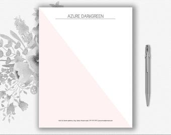 letter stationary template