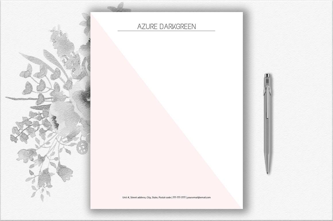 Elegante Briefpapier Download Moderne Briefkopf Vorlage
