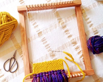 Weaving Loom, Lap Loom, Wooden Loom, Weaving Tools, Weaving Loom Kit