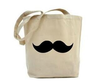Mustache Bag, Mustache Lover Gift, Tote Bag, Mustache Favour, Bags and Purses, Canvas Tote Bag, Shoulder Bag,