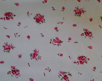 Tiny Pink Rose/Floral print 147cm wide fabric by Dapper Collection