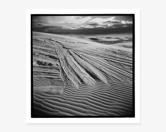 Black & White Photography, Fine Art Print, American West, Gypsum Dunes, White Sands National Monument, New Mexico, Holga, Landscape