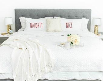 Naughty & Nice  Pillowcase Set