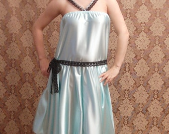 Plus Size Blue Flapper 1920s Dresses