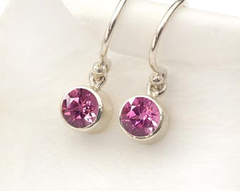 October Birthstone Earrings | Tourmaline | Sterling Silver | Handmade in the UK