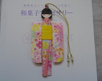 BMA00009 Handmade kawaii cute Japanese Origami Geisha bookmark Shiori Ningyo Washi Chiyogami Yuzen Kokeshi paper craft back to school