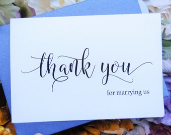 Thank You for MARRYING US Card, Officiant Thank You Card, Wedding Thank You Card, Officiant Card, Officiant Gift, Wedding Party Card