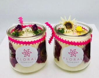 Hawaiian Hibiscus Flower Candle