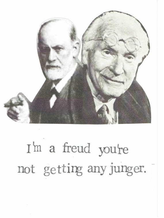 Freud jung birthday card funny psychology happy birthday like this item bookmarktalkfo Gallery