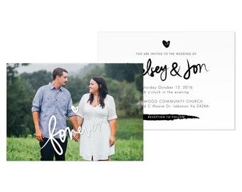 Wedding Invitation Photo Wedding Cards Template Photo Card Digital