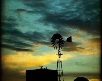 Western Photography-Southwest Art-Rustic Texas Fine Art Prints-Landscape-Windmill