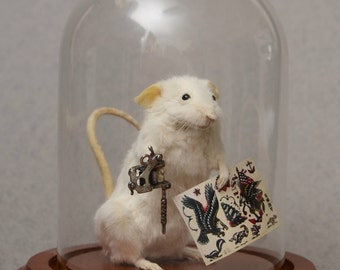 Taxidermy Tattoo Artist Mouse Tattooer Custom Made to Order