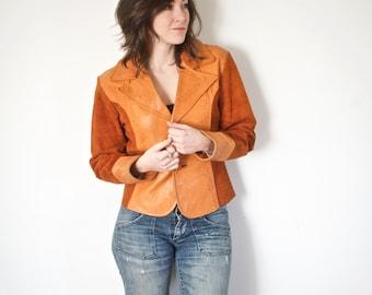 Vintage Moto Leather Jacket | Orange Rust Leather | Joel Gordon Original