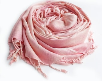 Blush pashmina, blush scarf, pink scarf, vegan scarves, warm pink scarf, pink winter scarf, pink wedding scarf, blush pink, oversized scarf