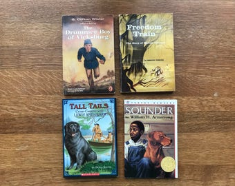 Collection of 4 Used Children's Fictional and Non-Fictional History Books
