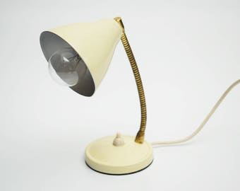 vintage Table Gooseneck Desk Lamp 60s 70s Retro