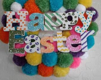 Easter Pom Pom Wreaths