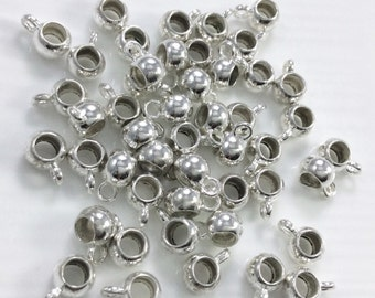 100 Pcs Dangle  Beads Dangle Hangers Nickel Free Plated  For Jewelry Maker