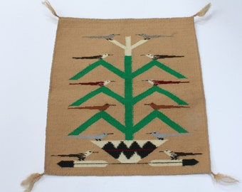 Navajo Small Weaving - Tree of Life--reduced price