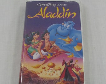 Aladdin Black Diamond Walt Disney The Classics VHS Aladdin Collectible Home Movie