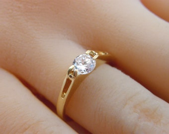 14K GOLD Filled Ring birthstone gemstone ,zirconia ring jewelry, dainty ring, gold fill ring, thin ring