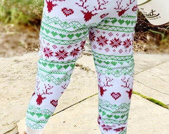 Winter Fair Isle Baby + Toddler  Leggings
