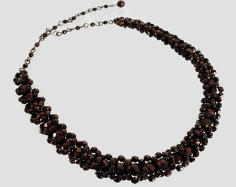Simply Dazzling in Bronze Necklace