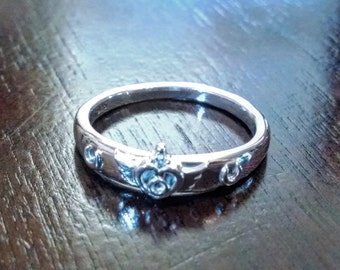 Sailor Moon Crisis Moon Compact Ring in Sterling Silver