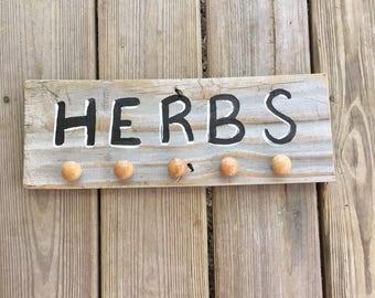 Herb Drying Rack - Herb Rack - Rustic Herb Drying Rack - Rustic Kitchen Decor - Rustic Kitchen Herb Rack -