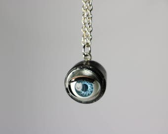 Real Blinking Doll Eye Necklace