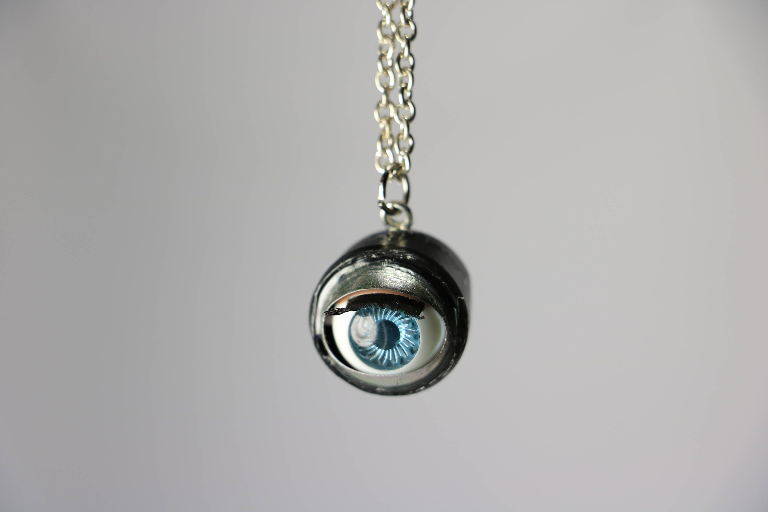 visual necklace goth resin harajuku eyeball pastel kei pendant decoden photos gatumi fashion